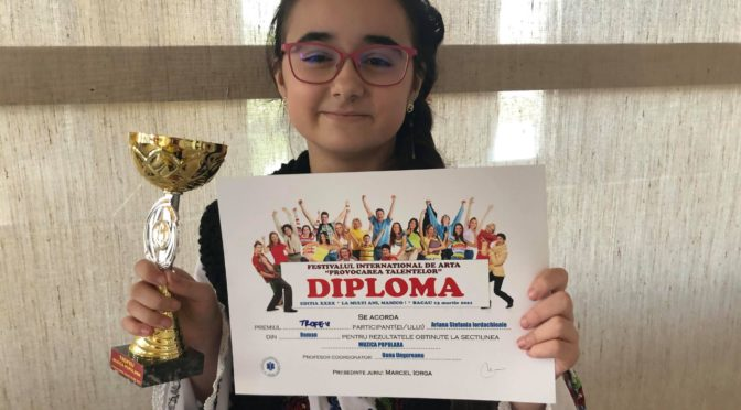 Ariana Ștefania Iordachioaie une jeune kids qui  grimpe parmi les grande